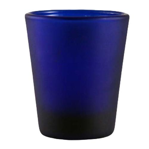 BarConic® 1.5oz Dark Blue Frosted Shot Glass
