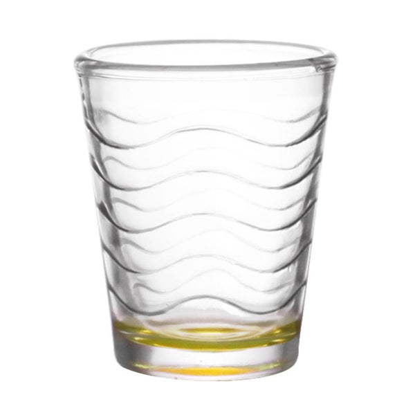 BarConic® 1.75 ounce Yellow Wave Shot Glass