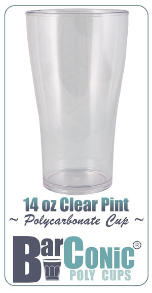 BarConic® Polycarbonate Cup - 14 ounce Clear