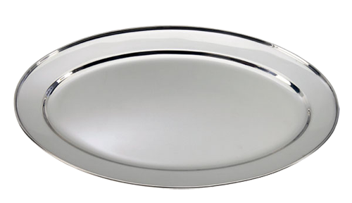 16'' Round Stainless Steel Serving Trays