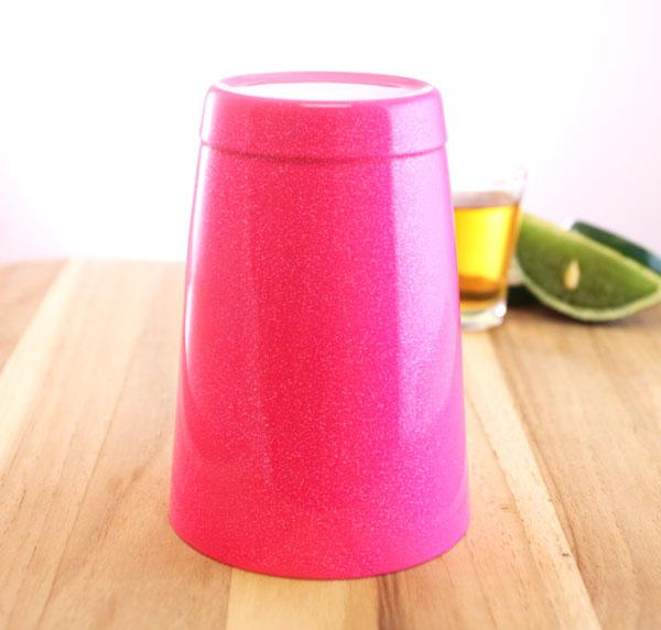 16 oz. Neon Pink Glitter Cocktail Shaker Tin