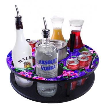 CHOOSE YOUR PATTERN - 18 inch Bottle VIP Service Tray - Made of Wood