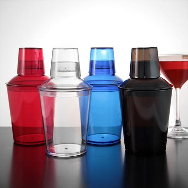 3 Piece 18 oz. Plastic Cocktail Shakers