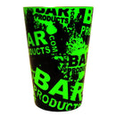 Cocktail Shaker Tin - Printed Designer Series - 18oz weighted - NEON GREEN Grungy BPC Logo