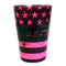 Cocktail Shaker Tin - Printed Designer Series - 18oz weighted - NEON PINK U.S. Flag
