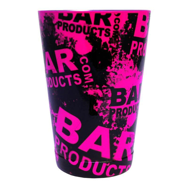 Cocktail Shaker Tin - Printed Designer Series - 18oz weighted - NEON PINK Grungy BPC Logo