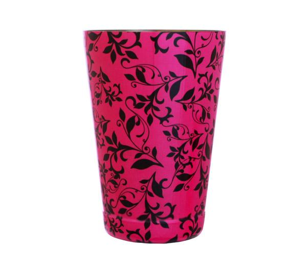 Cocktail Shaker Tin - Printed Designer Series - 18oz weighted - Pink Swirl