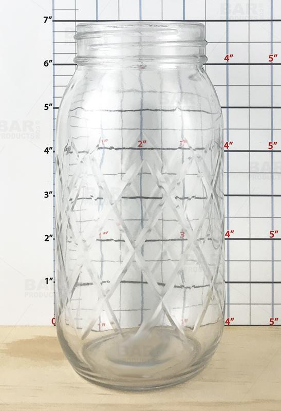 BarConic® - Diamond Cut Mason Jar - 24oz