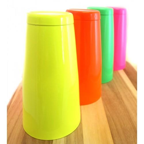 28 oz. Neon Weighted Powder Coated Shaker - Irregular