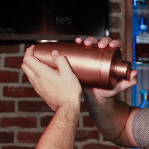 BarConic® 3 Piece Flat Top Antique Finish Plated Shaker Set