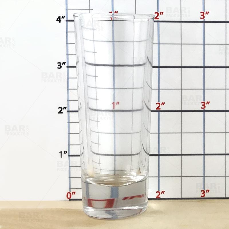 BarConic® 2oz Tall Clear Shooter Glass