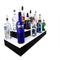 BarConic® LED Liquor Bottle Display Shelf - Outside Corner - 3 Steps - Black