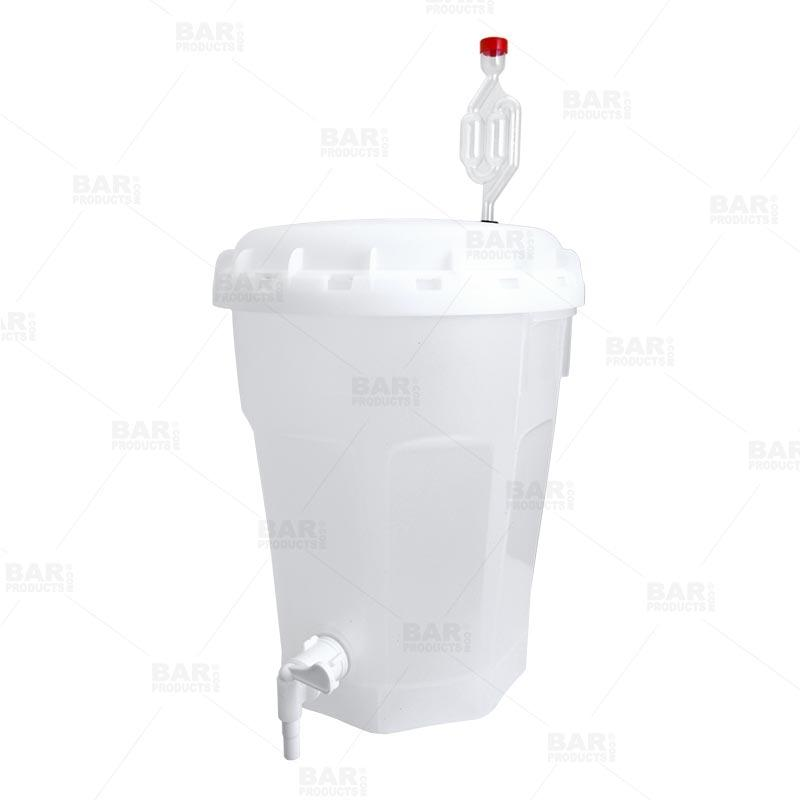 4 Gallon Plastic Fermenter Homebrewing Bucket - with Lid, Spigot and Airlock