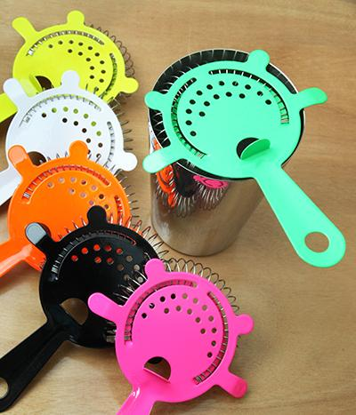 Powder Coated 4 Prong Strainer - NEON