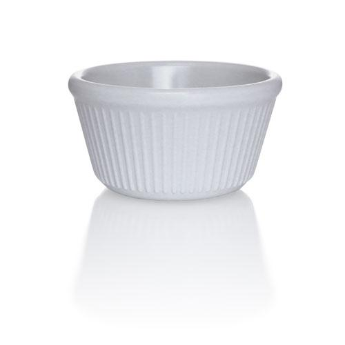 Bone - 4 oz. Fluted Melamine Ramekin - 12/pack