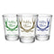 CUSTOMIZABLE - 1.75oz Clear Wedding Shot Glass - Antlers (Version 2)