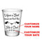 CUSTOMIZABLE - 1.75oz Clear Wedding Shot Glass - Bird Knot