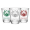 CUSTOMIZABLE Clear Wedding Shot Glass - Crest (Version 1) - 1.75oz