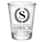 CUSTOMIZABLE - 1.75oz Clear Wedding Shot Glass - Crest