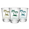 CUSTOMIZABLE - 1.75oz Clear Wedding Shot Glass - Palm Trees