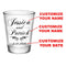CUSTOMIZABLE - 1.75oz Clear Wedding Shot Glass - Simplistic