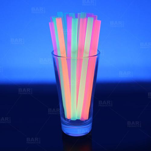 Glow under black light neon straws