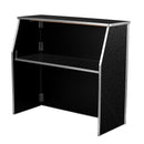 Portable Bar - 4 ft. Black Marble Laminate