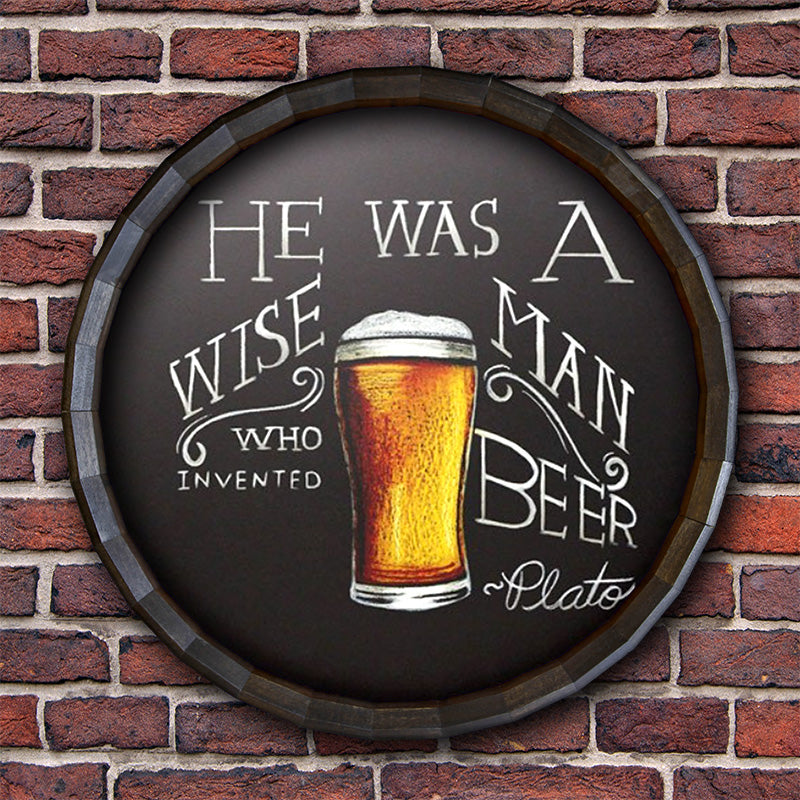 Chalkboard Barrel Top Tavern Sign