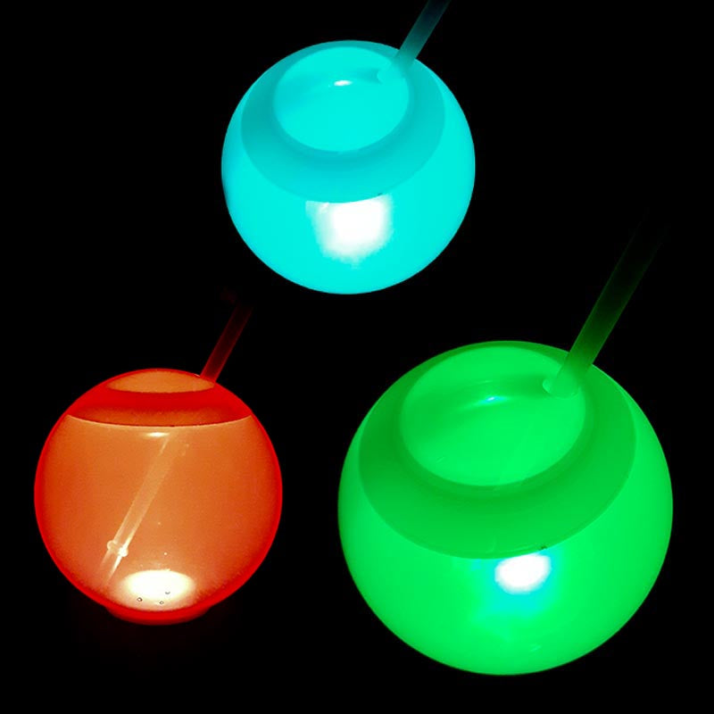 LED Ball Cup with Straw -  20 ounce