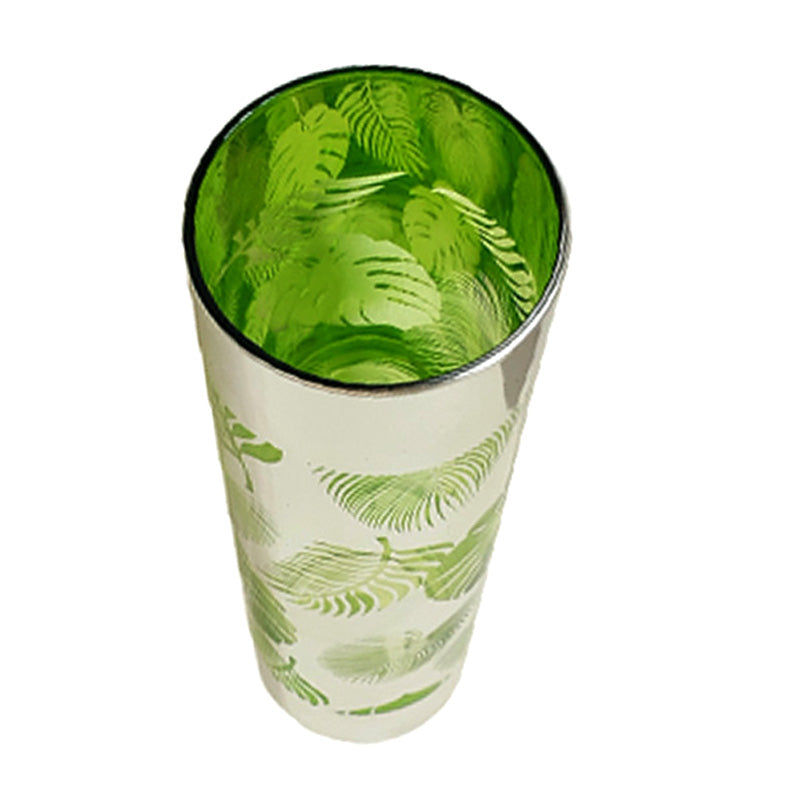 Tom Collins Glass - Tropical Leaves - 16 ounce