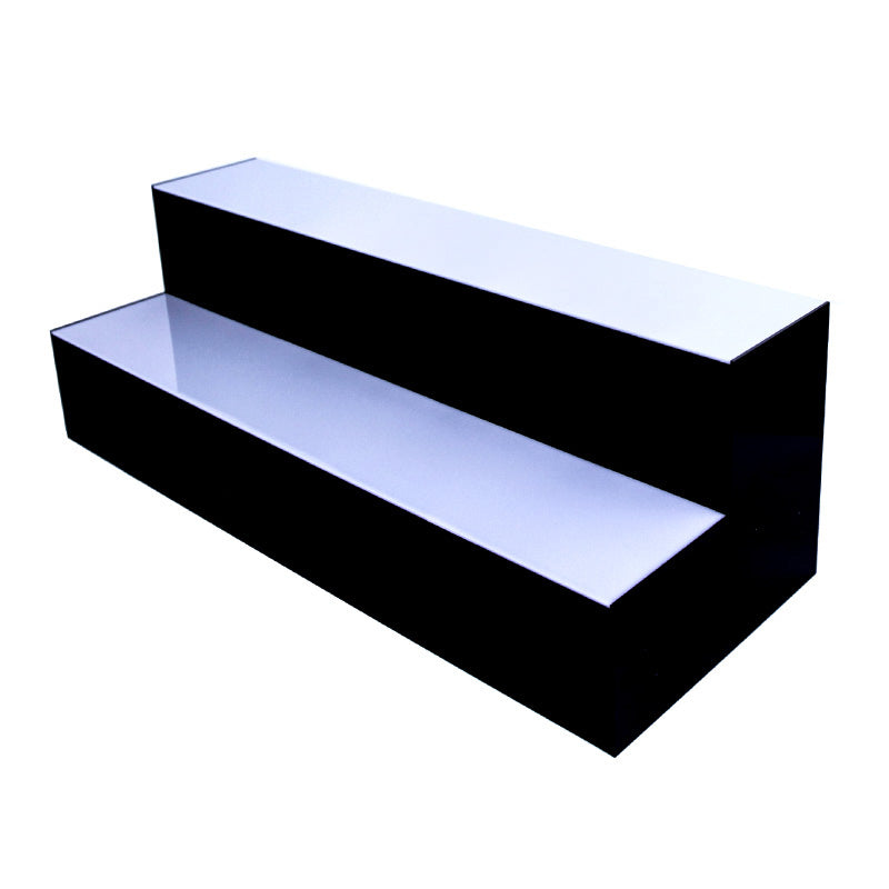 BarConic® Acrylic Bottle Shelf - 2 Step - Multi Colored Lights - Several Lengths