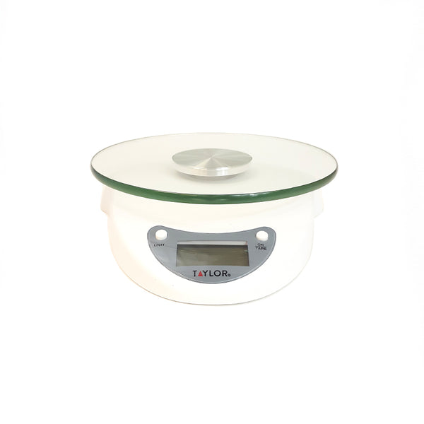 Digital Glass Top Kitchen Scale - White