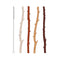 Silicone Twig Straws - 4 Pack with Brush