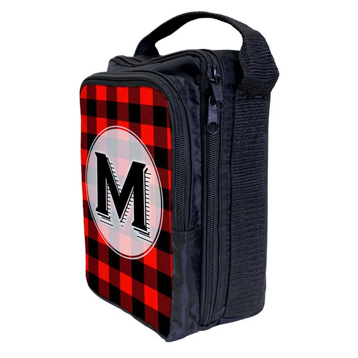 Bartender Tote Bag - ADD YOUR NAME Plaid Patterns - RED