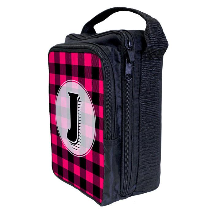 Bartender Tote Bag - ADD YOUR NAME Plaid Patterns - PINK
