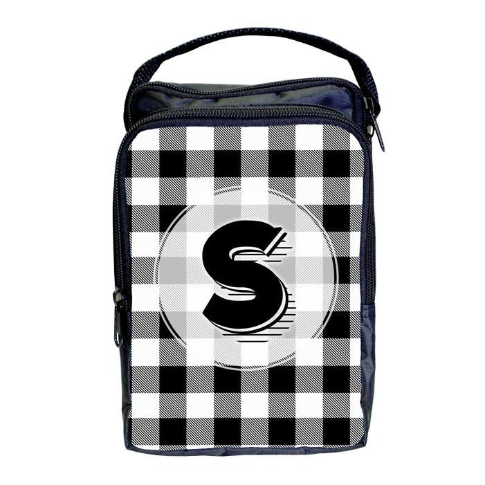 Bartender Tote Bag - ADD YOUR NAME Plaid Patterns - WHITE