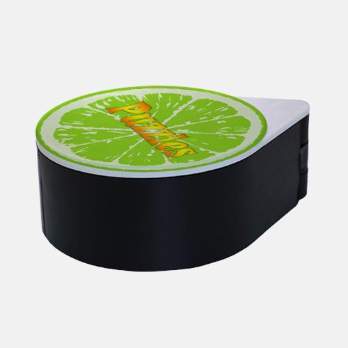 ADD YOUR NAME - Custom Glass Rimmer Lid - Lime with Black Base