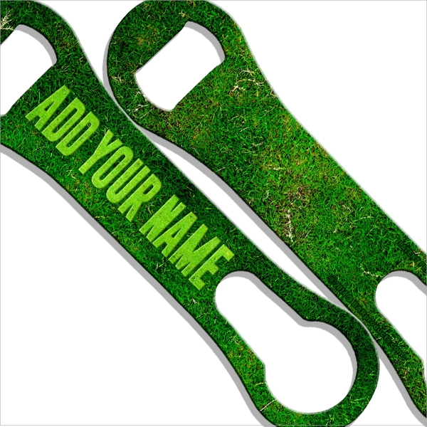 ADD YOUR NAME V-Rod® Bottle Opener – Grass