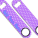 ADD YOUR NAME SPEED Bottle Opener – Polka Dots - Purple