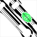 ADD YOUR NAME V-Rod® Bottle Opener – Stripes - Green
