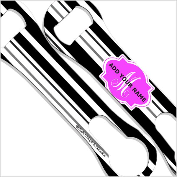 ADD YOUR NAME V-Rod® Bottle Opener – Stripes - Pink