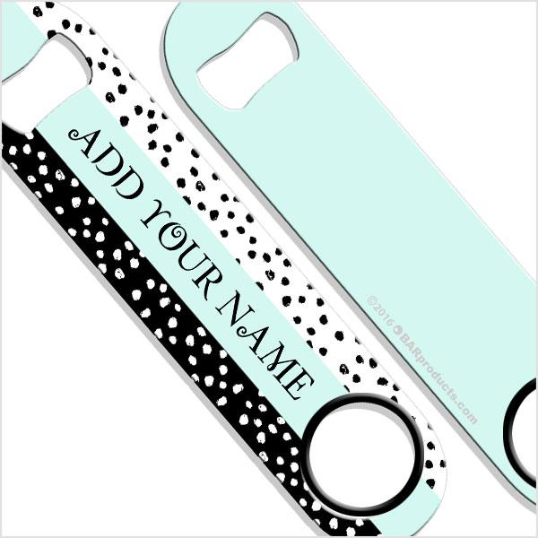 ADD YOUR NAME SPEED Bottle Opener – Watercolor Spots