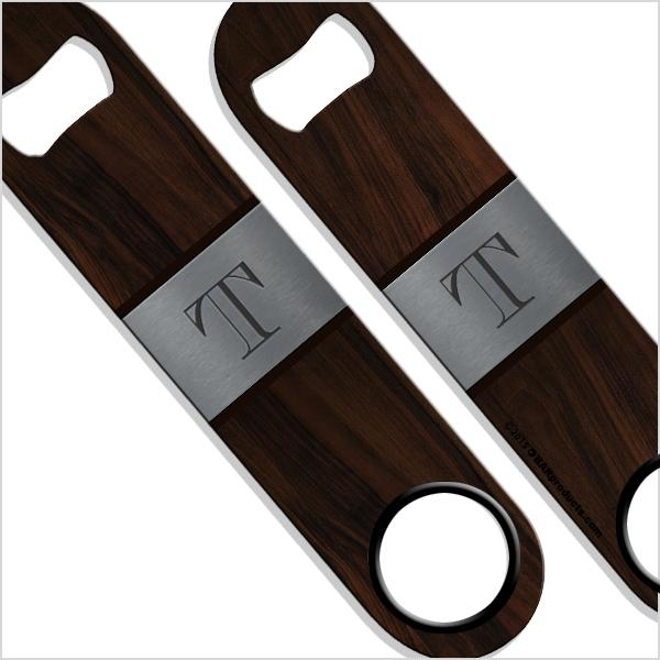 ADD YOUR NAME SPEED Bottle Opener – Wood Monogram