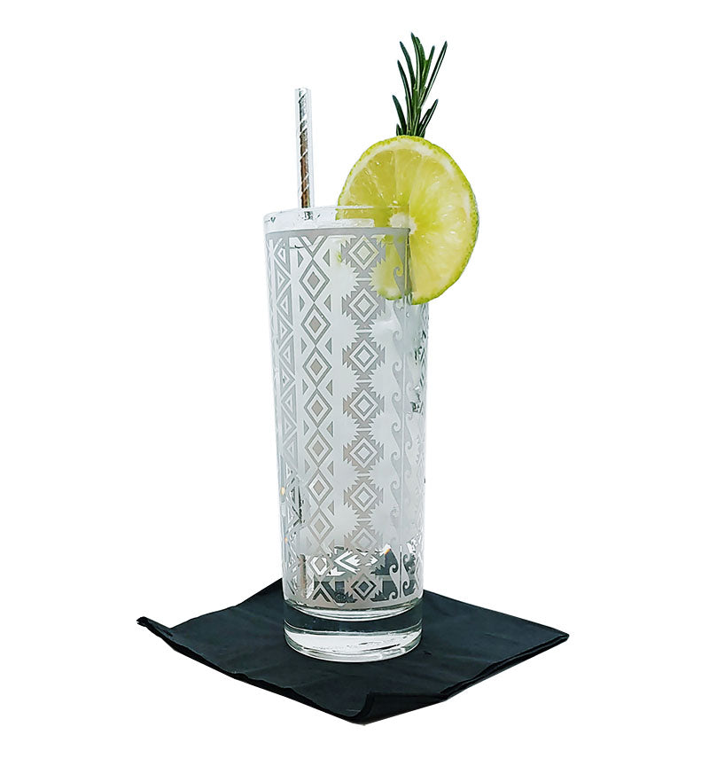 BarConic® Silver Aztec Highball Glass - 9.5oz