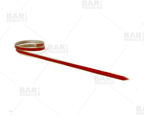 Ring Bamboo Cocktail Picks - 100 Pack - Red