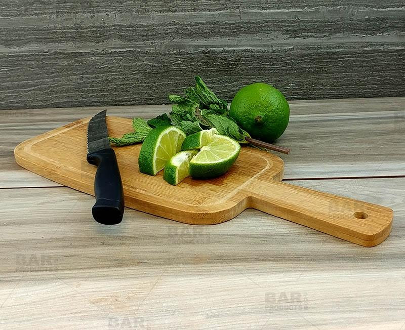 Bamboo Cutting Paddle - with Juice Border - Mini