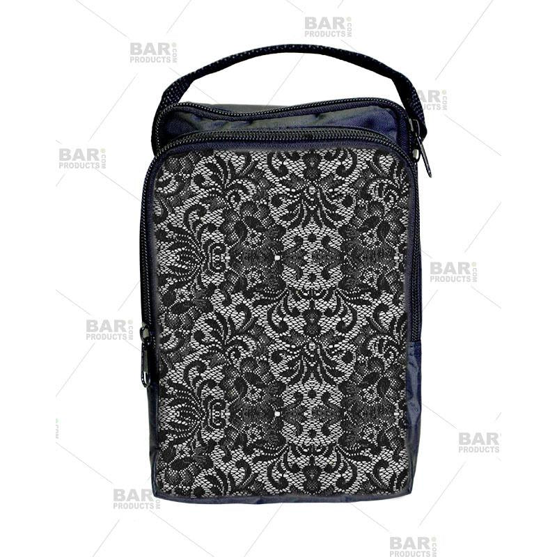 Bartender Tote Bag - Black and White Lace Design