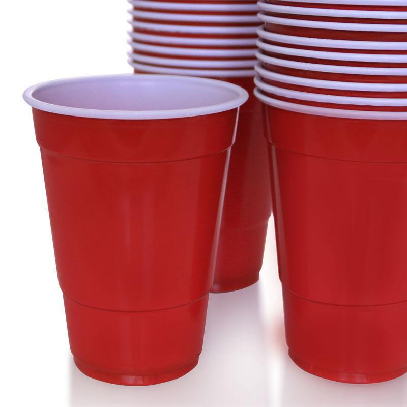 BarConic® 16 oz. Red Plastic Cups (Sleeve of 50)