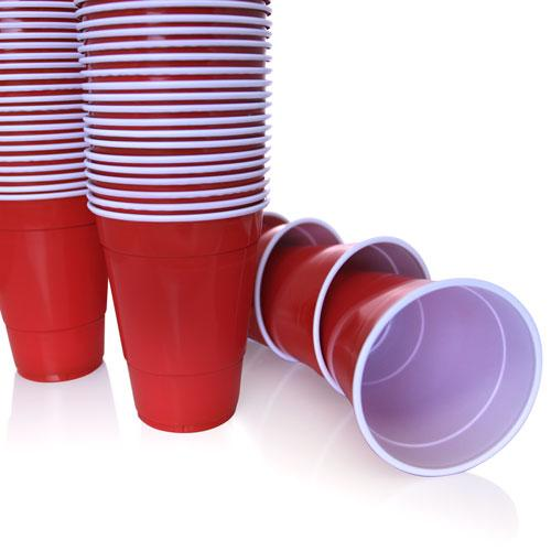 BarConic® Disposable 16 oz. Red Plastic Cups