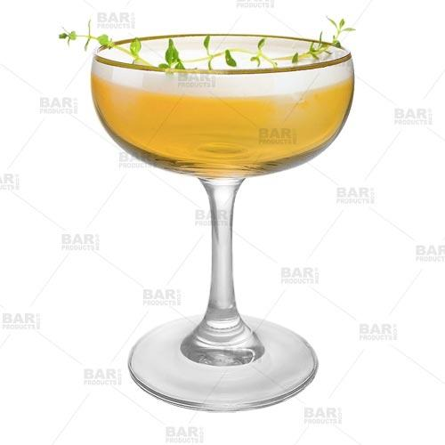 BarConic® 7 oz Gold Rimmed Coupe Cocktail Glass